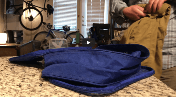 Using the Eagle Creek Clean Dirty Cube for efficient adventure packing