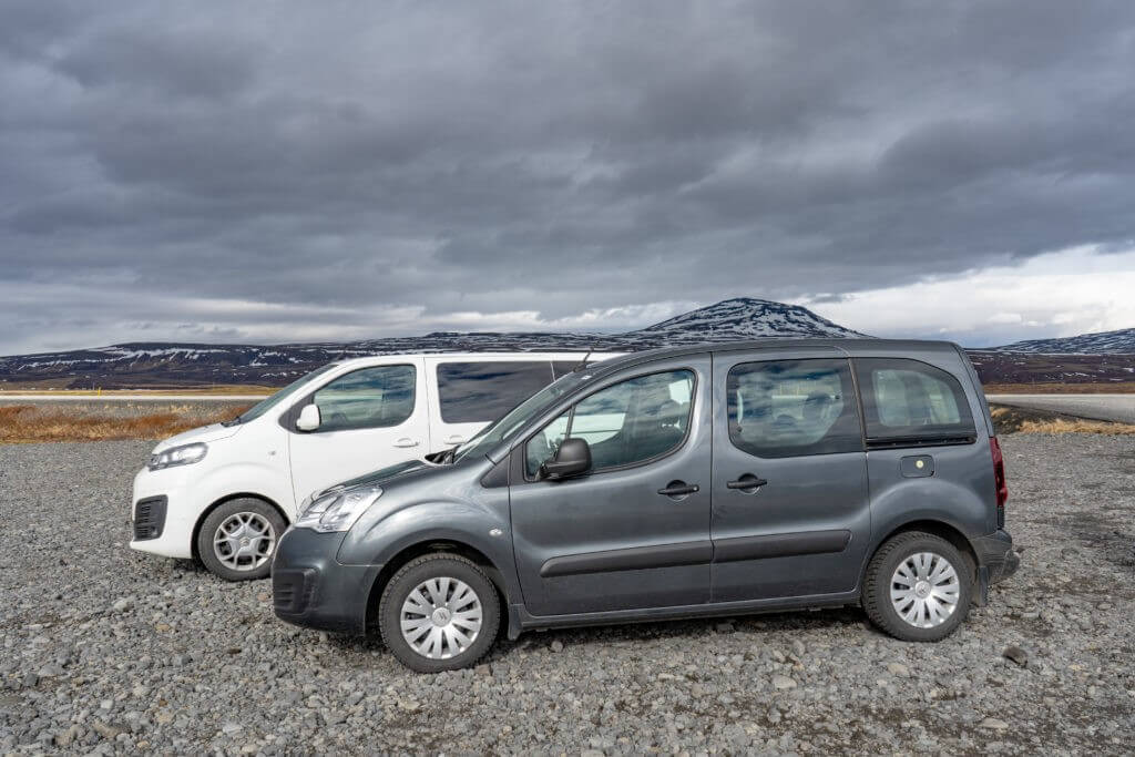 renting a car in Iceland in April