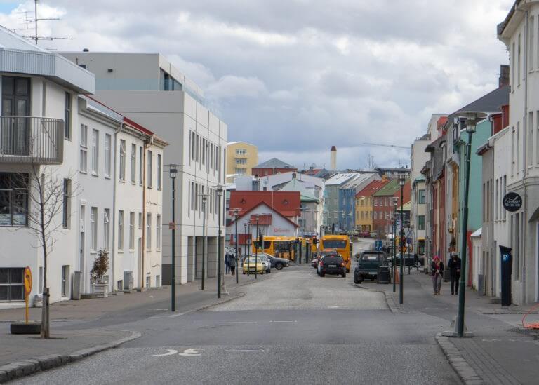iceland in April, downtown Reykjavík